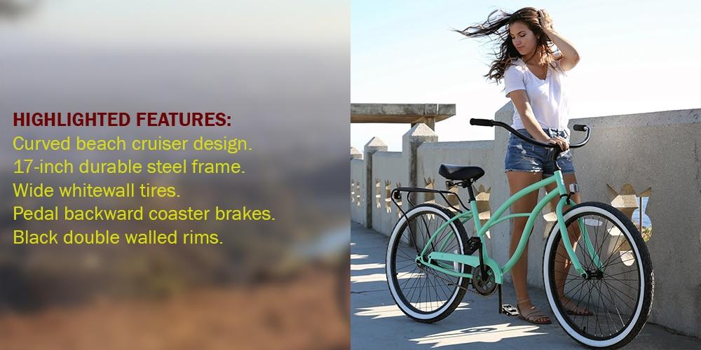 Sixthreezero Around The Block Women's 1-Speed Cruiser Bike