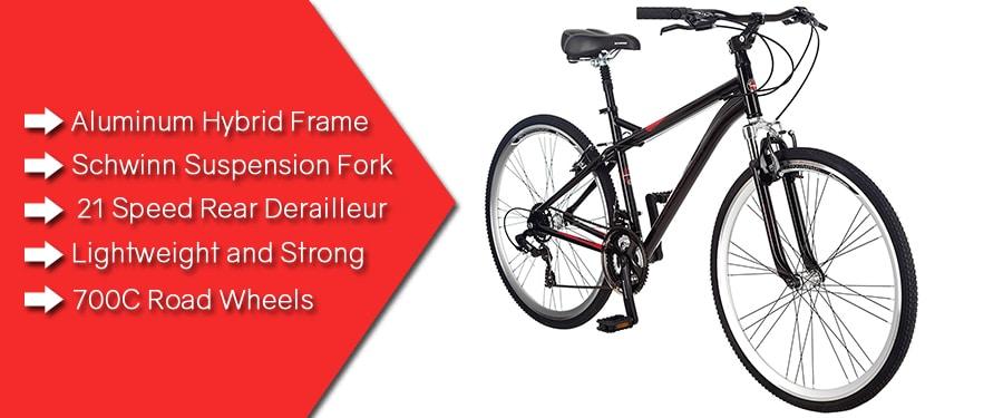 Schwinn Men's Siro 700c Hybrid Bicycle, Black, 18-Inch Frame