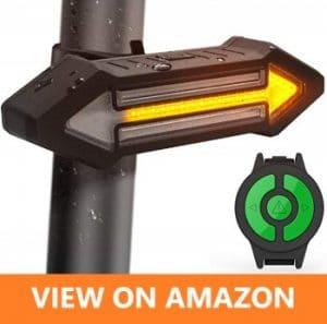 HAHAKEE top Bike Tail Light Turn Signal