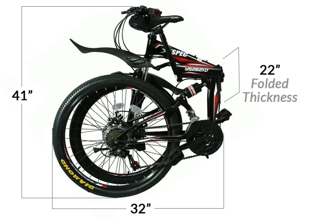 Xspec Folding Moutain Bike size