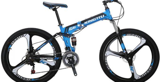 Blue Kingttu mountain foldable bike